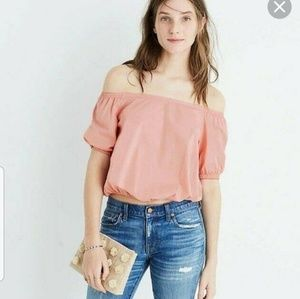 Madewell shoulder Bubble Top 100% Cotton  XL
